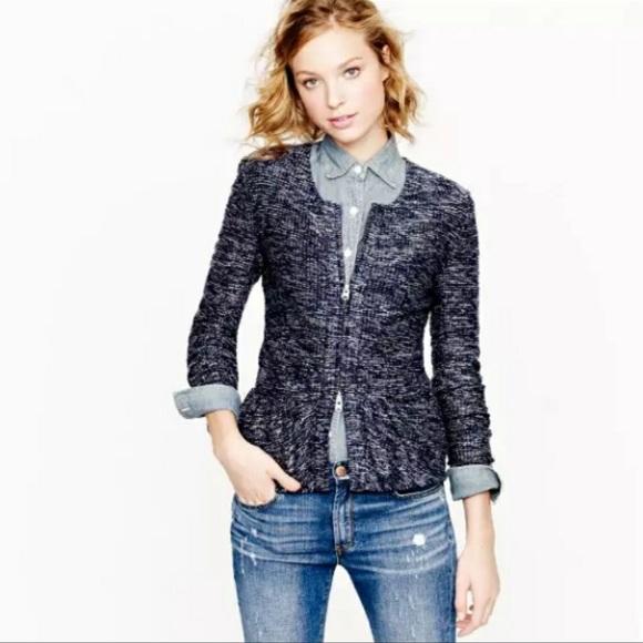 J CREW peplum zipper jacket